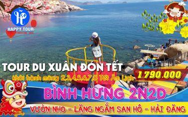 TOUR BÌNH HƯNG - BBQ TÔM HÙM - LẶN NGẮM SAN HÔ 2 NGÀY 2 ĐÊM