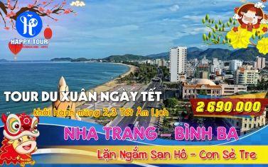 TOUR NHA TRANG - BÌNH BA 3 NGÀY 3 ĐÊM
